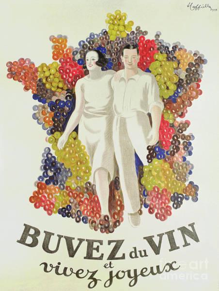 Wall Art - Painting - Drink Wine, Live Joyfully by Leonetto Cappiello
