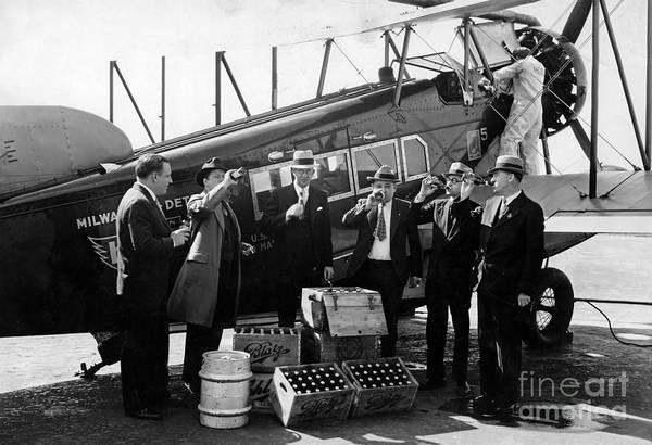 Cops Photograph - Drinking Prohibition Agents  by Jon Neidert