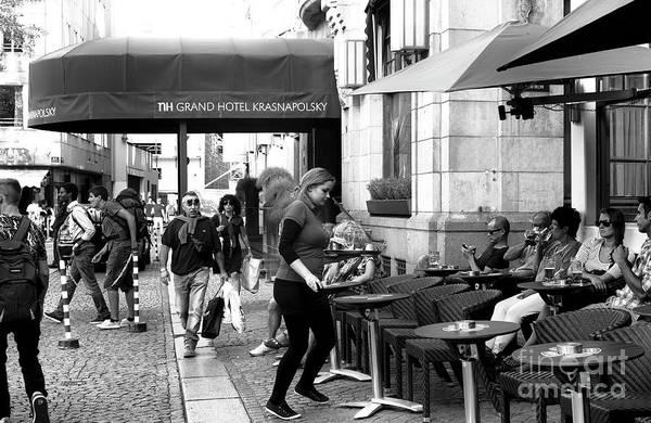 Wall Art - Photograph - Drinks In Amsterdam Mono by John Rizzuto