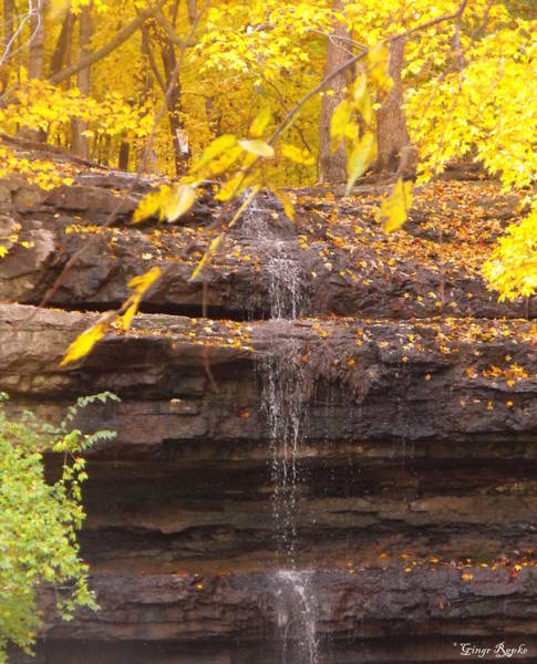 Saint Louis County Photograph - Dripping Springs Waterfall by Ginger Repke