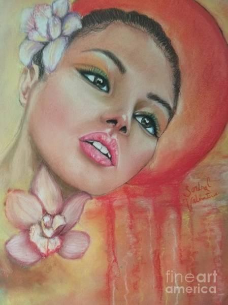 Wall Art - Pastel - Dripping Sun by Sandra Valentini
