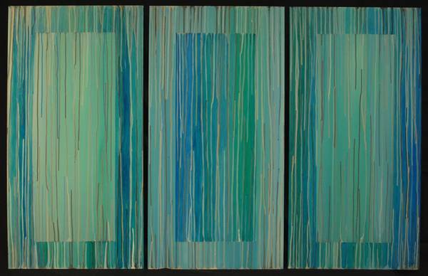 Painting - Drippings Triptych by Emily Page