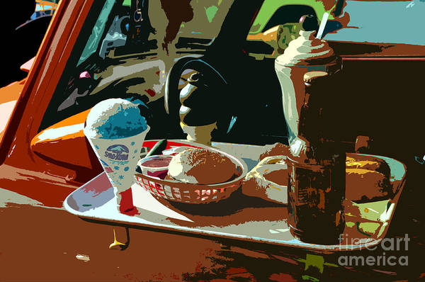 Drive-ins Painting - Drive In by David Lee Thompson