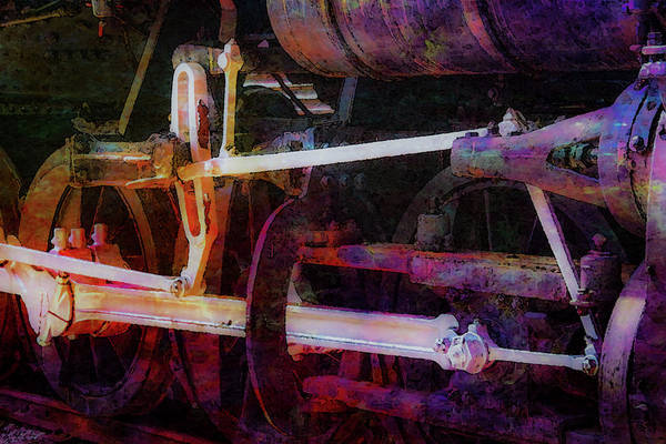 Photograph - Drive Wheels Digital Painting 3987 Dp_2 by Steven Ward
