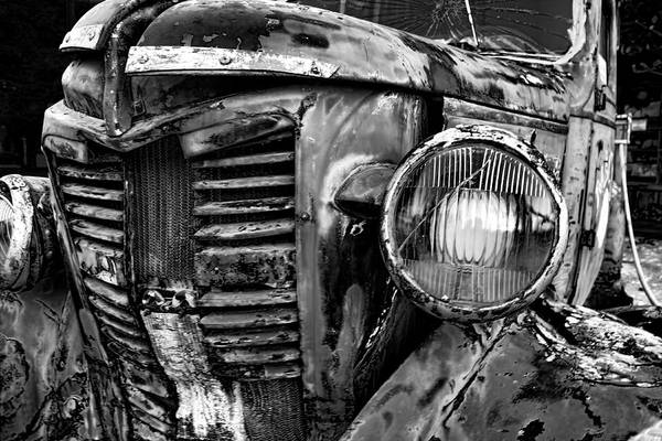 Clunker Wall Art - Photograph - Driven Tired by Chrystyne Novack