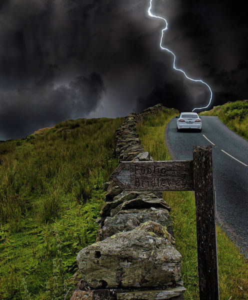 Grey Cloud Photograph - Driving Into The Storm by Martin Newman