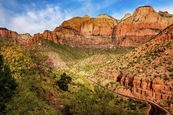 Photograph - Driving Into Zion by John Hight