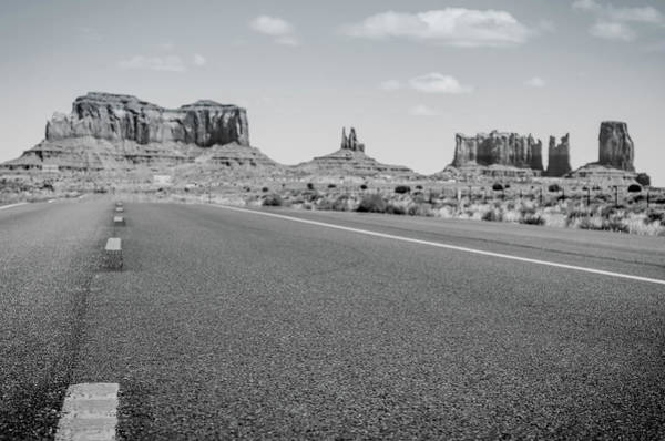 Photograph - Driving Monument Valley Monochrome by Margaret Pitcher