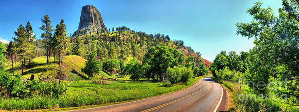 Photograph - Driving Past Devils Tower by Adam Jewell