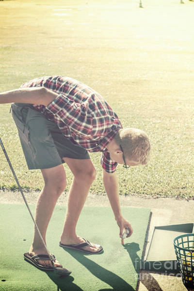 Tee Photograph - Driving Range Golf by Jorgo Photography - Wall Art Gallery