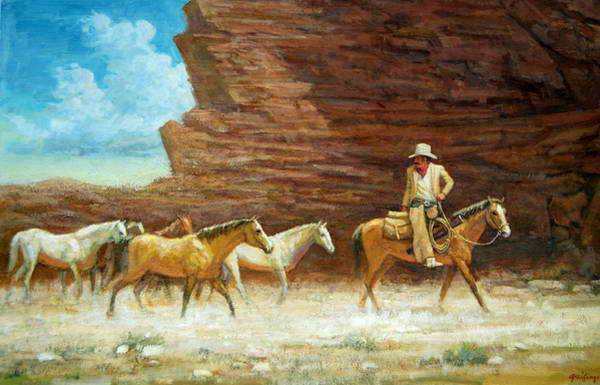 Painting - Driving The Herd by Mel Greifinger
