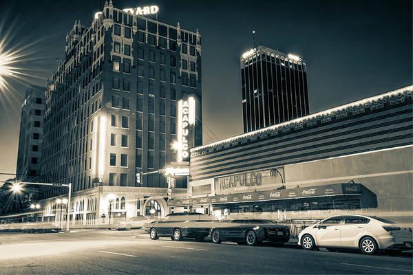 Photograph - Driving Through Downtown Amarillo Texas - Sepia  by Gregory Ballos