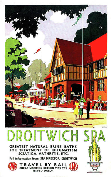 Wall Art - Painting - Droitwich Spa, England, Railway Poster by Long Shot