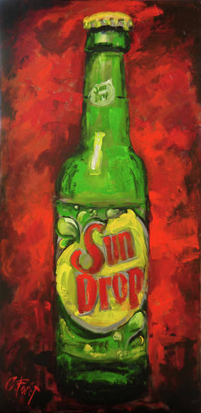 Wall Art - Painting - Drop Of Citrus Sun by Carole Foret
