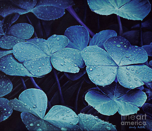 Lucky Clover Painting - Drops Of Moonlight by Wendy Galletta