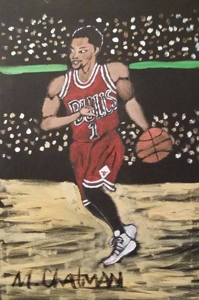 78fc69f95317 Chicago Bulls Painting - D.rose by Michael Chatman