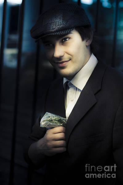 Sly Photograph - Drug Dealer With Marijuana by Jorgo Photography - Wall Art Gallery