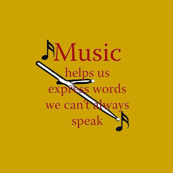 Photograph - Drum Music Helps Us Express Words by M K Miller