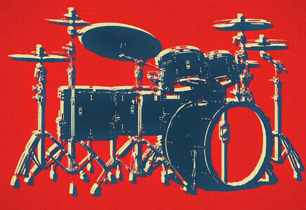 Mixed Media - Drum Set Pop Art by Dan Sproul