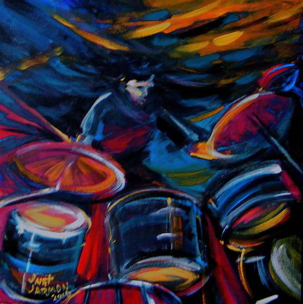 Drummer Craze Art Print