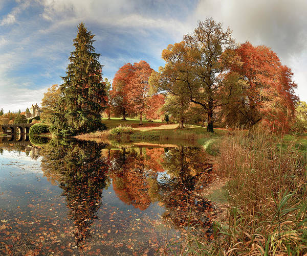 Photograph - Drummond Castle Garden by Grant Glendinning