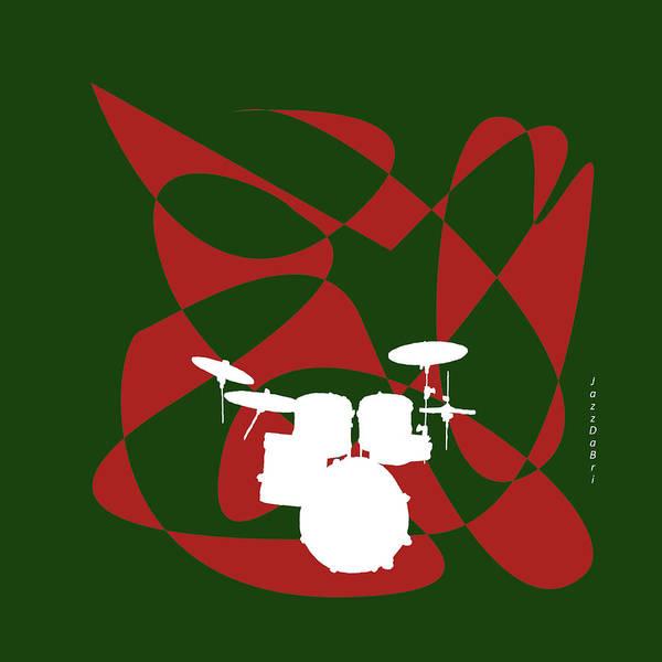 Digital Art - Drums In Green Strife by David Bridburg