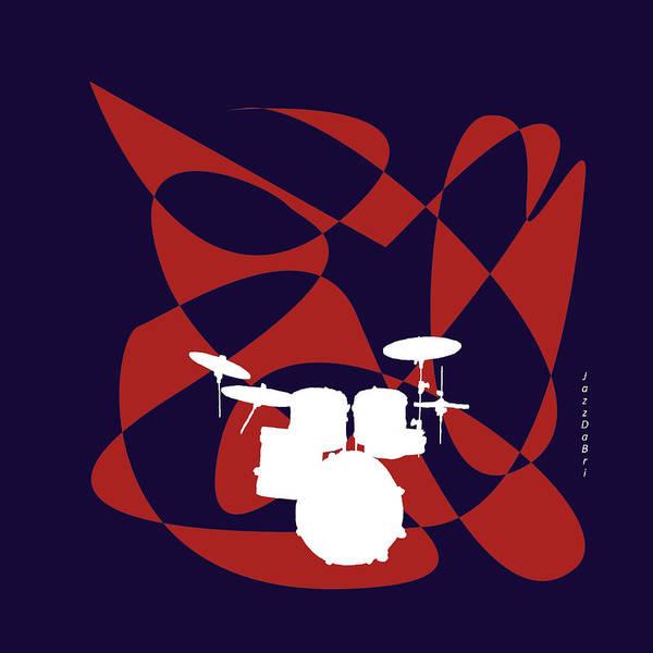 Digital Art - Drums In Purple Strife by David Bridburg