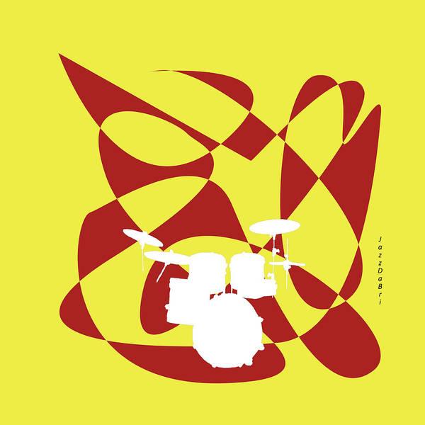 Digital Art - Drums In Yellow Strife by David Bridburg