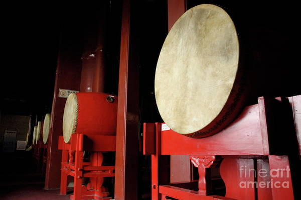 Drum Circle Wall Art - Photograph - Drums Lined Up In A Row Inside A Drum Tower by Sami Sarkis