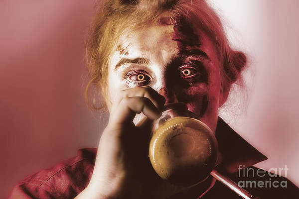 Photograph - Drunk Ghoul Sculling Beer At Halloween Party by Jorgo Photography - Wall Art Gallery
