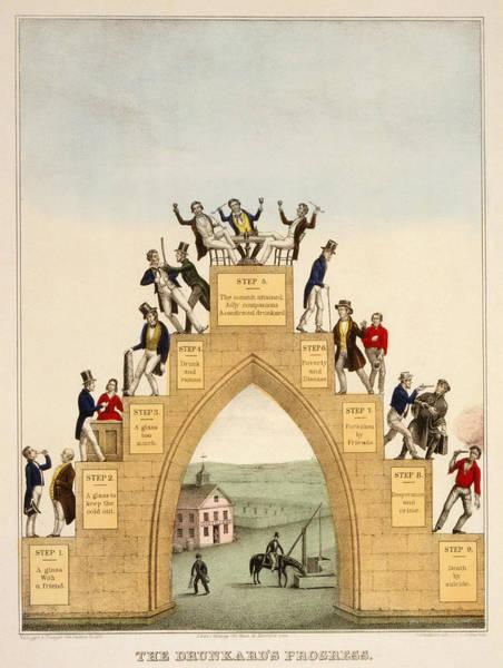 Temperance Movement Photograph - Drunkards Progress, 1846 by Granger