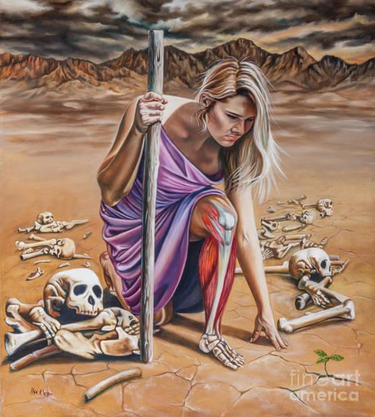 Bone Painting - Dry Bones by Ilse Kleyn