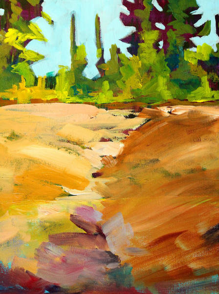 Umber Painting - Dry Creek by Nancy Merkle