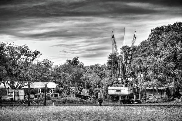 Photograph - Dry Dock - St. Helena Shrimp Boat by Scott Hansen