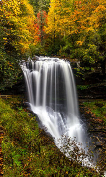 Dry Falls In October  Art Print