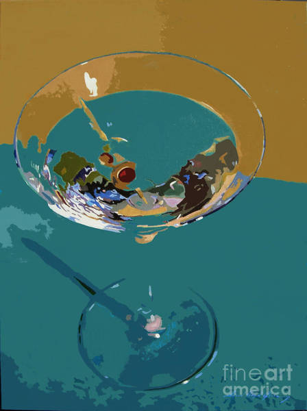 Martini Glasses Painting - Dry Martini by David Lloyd Glover