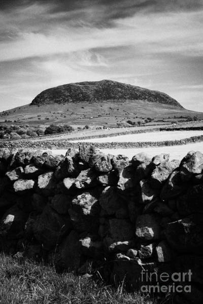 Wall Art - Photograph - Dry Stone Wall And Slemish Mountain County Antrim Northern Ireland by Joe Fox