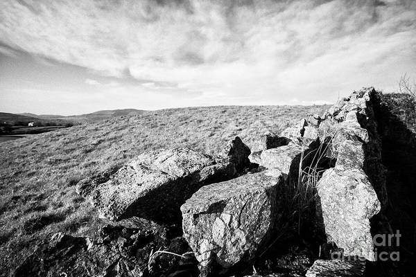 Boundary County Photograph - Dry Stone Wall In The Border Area Of South County Armagh Northern Ireland by Joe Fox