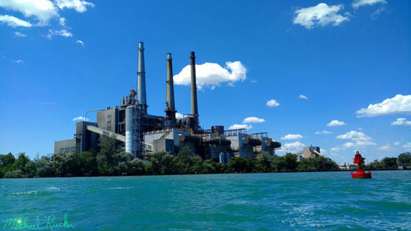 Wall Art - Photograph - Dte River Rouge Power Plant by Michael Rucker
