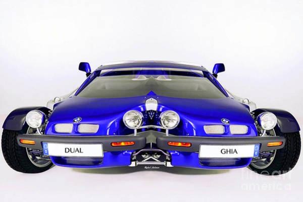 Digital Art - Dual Ghia by Rafael Salazar
