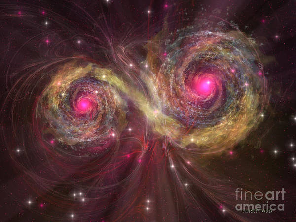 Endless Painting - Dual Star by Corey Ford