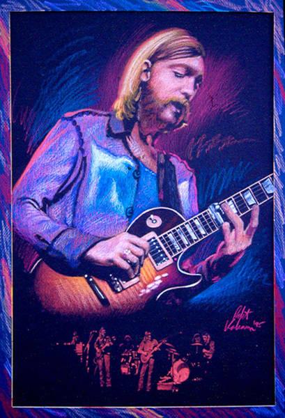 Wall Art - Pastel - Duane Allman by Robert Korhonen