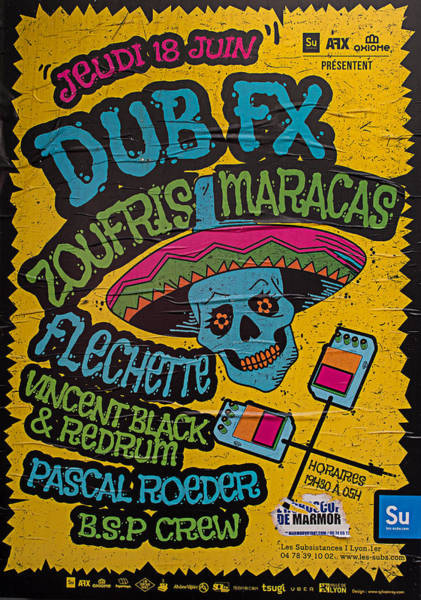 Photograph - Dub Fx And Zoufris Maracas Poster by Gary Karlsen