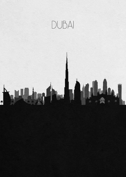 Souvenir Digital Art - Dubai Cityscape Art by Inspirowl Design
