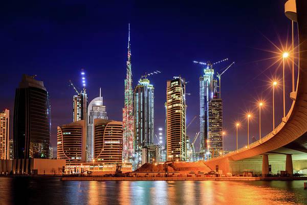 Wall Art - Photograph - Dubai Downtown Skyline by Alexey Stiop