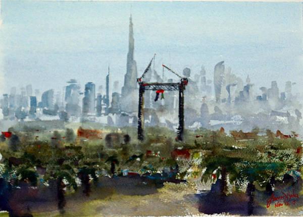 2020 Wall Art - Painting - Dubai Expo 2020 Preparations by James Nyika