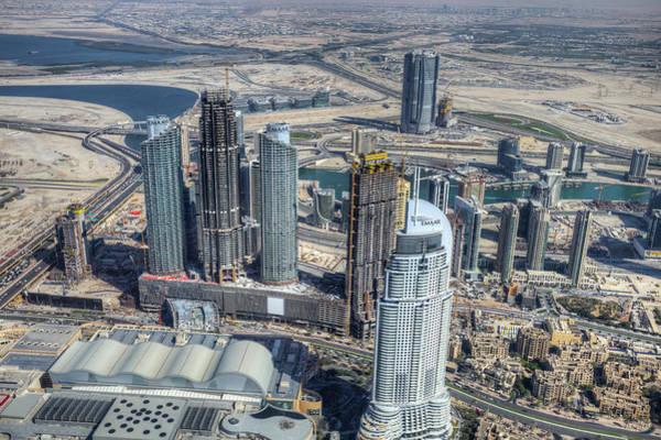 Wall Art - Photograph - Dubai From The Air by David Pyatt