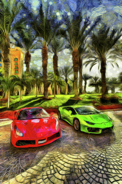 Wall Art - Photograph - Dubai Super Cars Art by David Pyatt