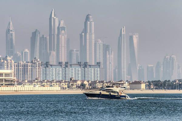 Wall Art - Photograph - Dubai Yacht And Architecture by David Pyatt