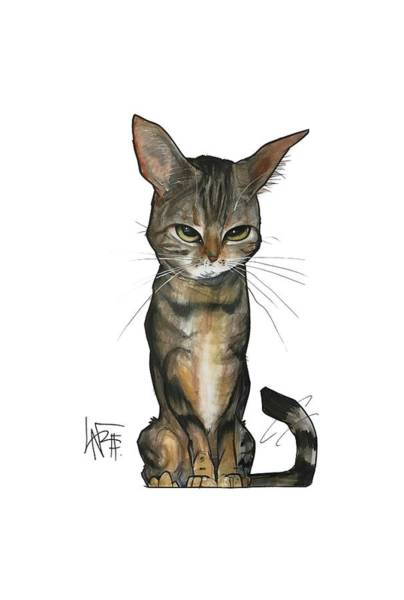 Pet Portrait Drawing - Dubell Smith 3261 by John LaFree